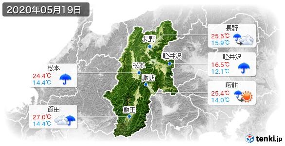 長野県(2020年05月19日の天気