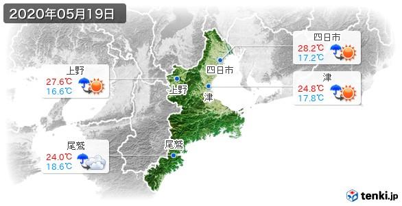 三重県(2020年05月19日の天気