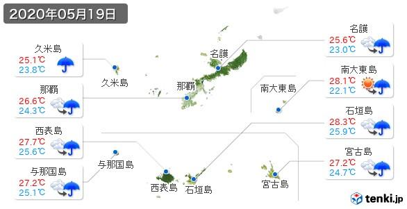 沖縄県(2020年05月19日の天気