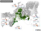 2020年05月20日の東海地方の実況天気
