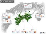 2020年05月20日の四国地方の実況天気