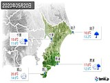 2020年05月20日の千葉県の実況天気