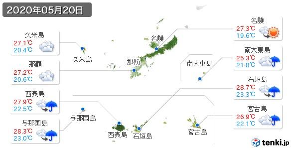 沖縄県(2020年05月20日の天気