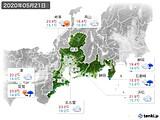 2020年05月21日の東海地方の実況天気