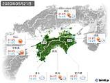 2020年05月21日の四国地方の実況天気