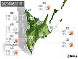 2020年05月21日の道東の実況天気