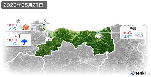 鳥取県(2020年05月21日の天気