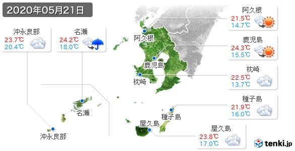 鹿児島県(2020年05月21日の天気