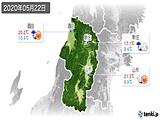 2020年05月22日の山形県の実況天気