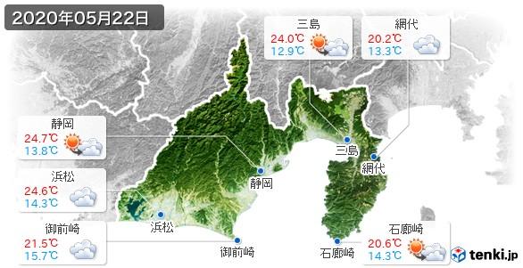 静岡県(2020年05月22日の天気