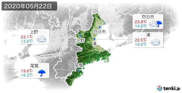 三重県(2020年05月22日の天気
