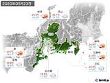 2020年05月23日の東海地方の実況天気