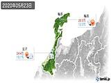 2020年05月23日の石川県の実況天気