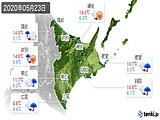 2020年05月23日の道東の実況天気