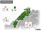 2020年05月23日の島根県の実況天気