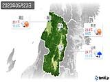 2020年05月23日の山形県の実況天気