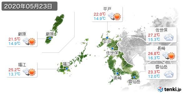 長崎県(2020年05月23日の天気