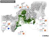 2020年05月24日の東海地方の実況天気