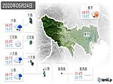 2020年05月24日の東京都の実況天気