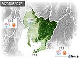 2020年05月24日の愛知県の実況天気