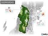 2020年05月24日の山形県の実況天気