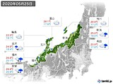 2020年05月25日の北陸地方の実況天気