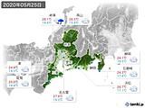 2020年05月25日の東海地方の実況天気