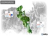 2020年05月25日の京都府の実況天気