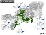 2020年05月26日の東海地方の実況天気