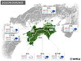 2020年05月26日の四国地方の実況天気