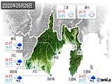 2020年05月26日の静岡県の実況天気