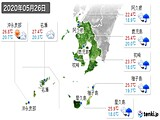 2020年05月26日の鹿児島県の実況天気