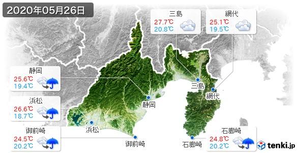 静岡県(2020年05月26日の天気