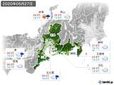 2020年05月27日の東海地方の実況天気