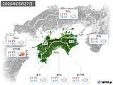 2020年05月27日の四国地方の実況天気