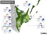 2020年05月27日の道東の実況天気