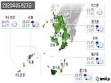 2020年05月27日の鹿児島県の実況天気