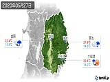 2020年05月27日の岩手県の実況天気