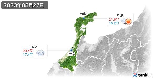 石川県(2020年05月27日の天気