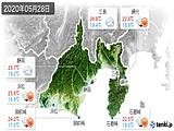 2020年05月28日の静岡県の実況天気