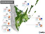 2020年05月28日の道東の実況天気