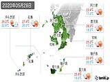 2020年05月28日の鹿児島県の実況天気