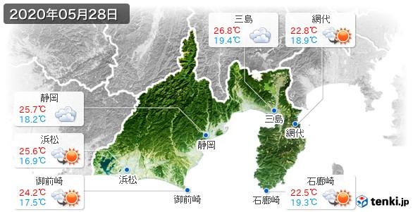 静岡県(2020年05月28日の天気