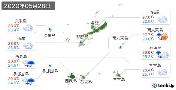 沖縄県(2020年05月28日の天気