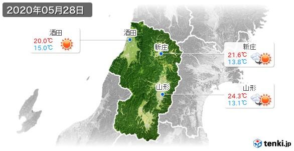 山形県(2020年05月28日の天気