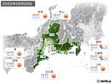 2020年05月29日の東海地方の実況天気
