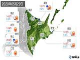 2020年05月29日の道東の実況天気