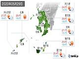 2020年05月29日の鹿児島県の実況天気