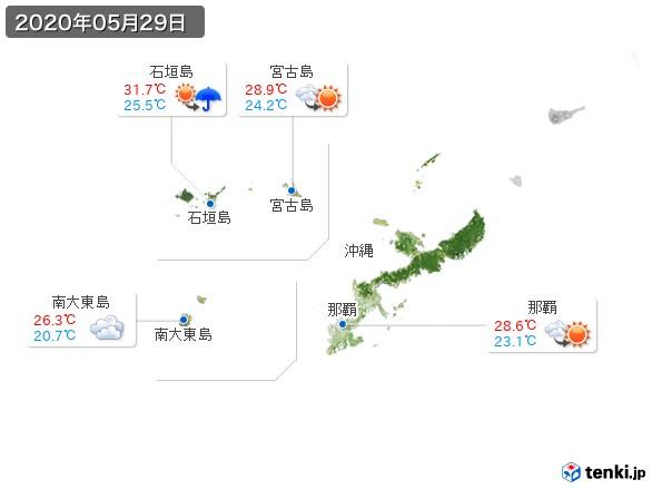 沖縄地方(2020年05月29日の天気