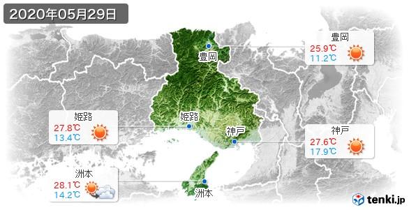 兵庫県(2020年05月29日の天気